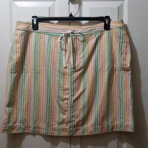 C.J.Banks pastel striped skort.